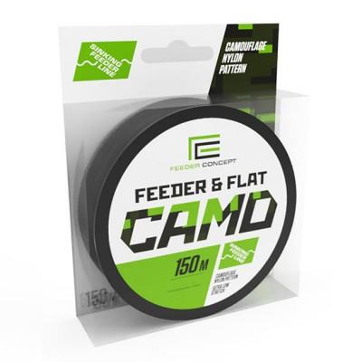 Леска монофильная Feeder Concept Feeder&Flat Camo 150м, d-0.27мм